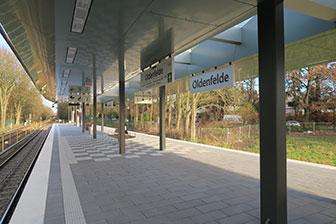 Foto: U-Bahn - Haltestelle Oldenfelde - NordNordWest